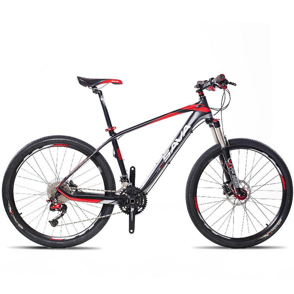 自転車 マウンテンバイク 炭素繊維フレーム カーボンファイバー 超軽量 シマノM370変速27速 26インチ B078PHRNMC 黒い 黒い