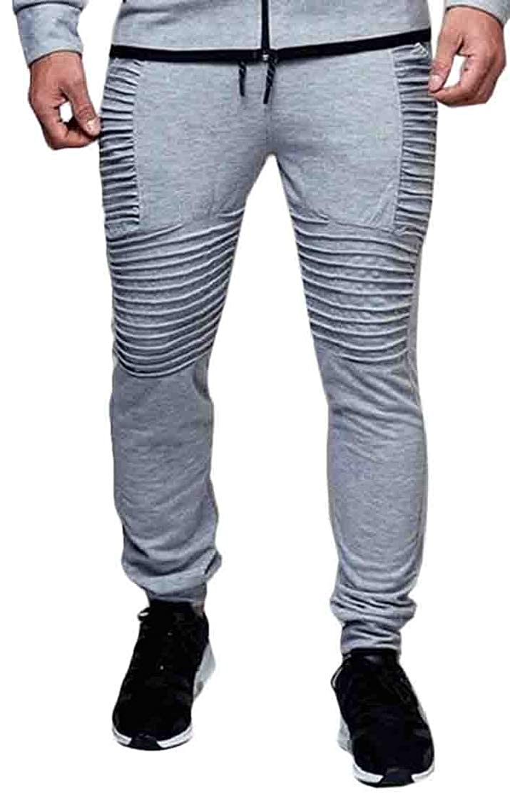 KLJR Men Sweatpants Stripe Fitness Hip Hop Sport Running Jogger Pants