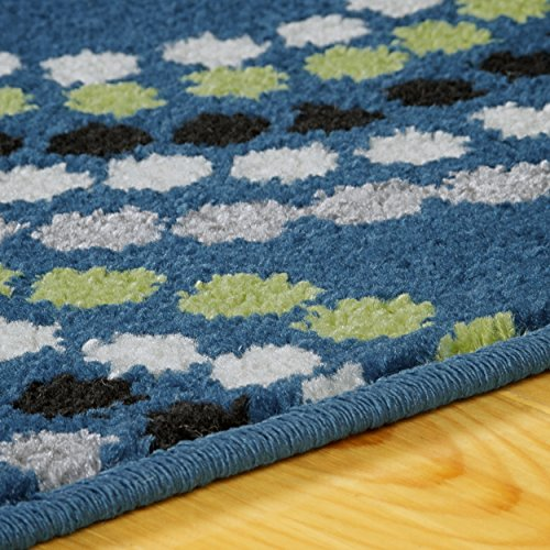Large Product Image of Superior Burgess Collection, 6mm Pile Height with Jute Backing, Quality and Affordable Area Rugs, 5' x 8' Blue