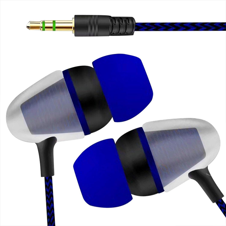 ユニバーサル 3.5mm インイヤー ステレオ イヤホン 携帯電話 HiFi インイヤー ヘッドホン 高解像度 オーディオマニア用イヤホン Zodrq M ブルー 54848676 B07PD27H37 ブルー