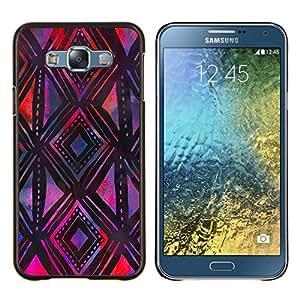 Stuss Case / Funda Carcasa protectora - Modelo púrpura Negro mano del arte - Samsung Galaxy E7 E700