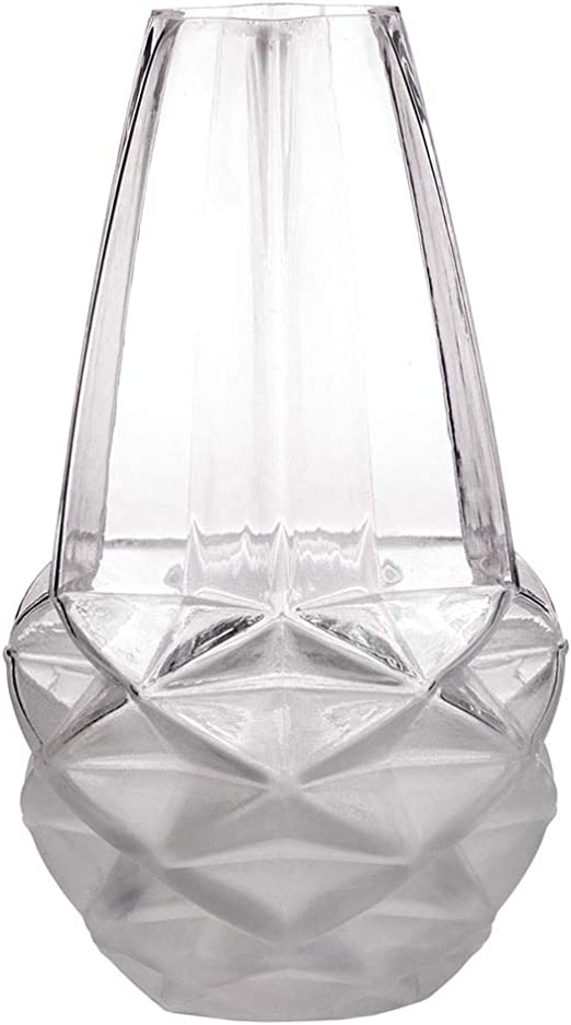 unusual shaped clear glass vases