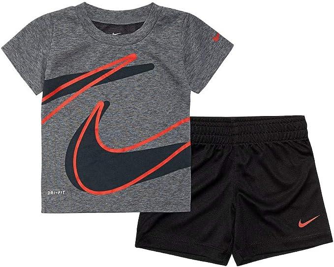 Nike Baby Boys 2 Pc Outfit Pants Bodysuit Set Black Red Infant 3M 6M 12M 18M NWT
