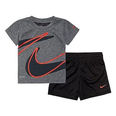 7eb3501259 Amazon.com: Nike Kids Baby Boy's Dri-Fit Short Sleeve T-Shirt and ...