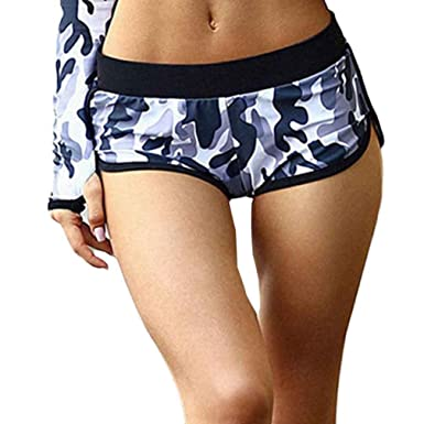 ad46d88cb4 Hot Sale!Women Yoga Shorts,Canserin Women's Camouflage Running Yoga Gym  Fitness Sport Pants