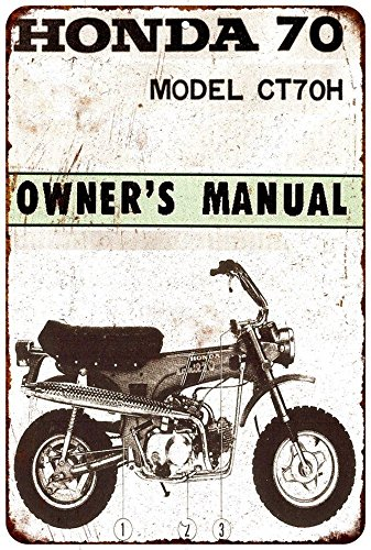 Honda 70 Mini Bike Vintage Look Reproduction Metal Sign 8x12