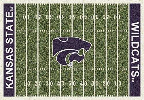 Kansas State College Home Football Field Rug: 7'8