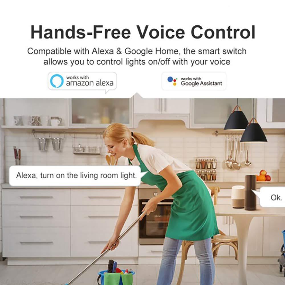 Android iOS ewelink App Interruptor Mando A Distancia 10 Piezas TiooDre Sonoff Interruptor WiFi Interruptor Inalambrico Remoto Funciona con Alexa Google Home