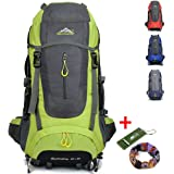 Ticktock Ong 70L Viaggio Zaino Trekking Escursionismo Alpinismo Arrampicata Campeggio per Uomo Donna (verde)