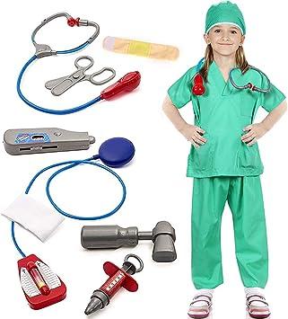 Tacobear Doctora Disfraz para Niños Enfermera Médico Accesorios ...