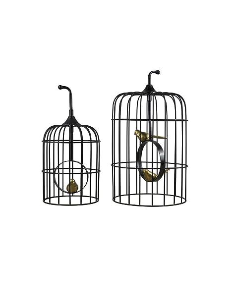 WYSTAO Jaula de pájaros, decoración Creativa de Jaula de pájaros ...
