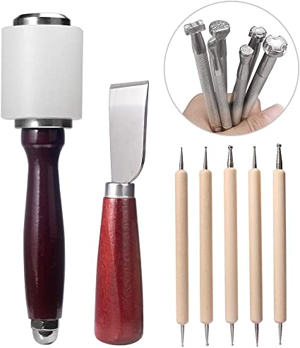 Saddle Making Tools Handmade Hammer Leather ​Carving Cutter Accessories