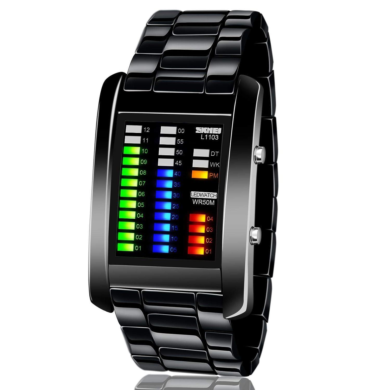 Fashion week Leather pu stylish band led wrist watch for woman