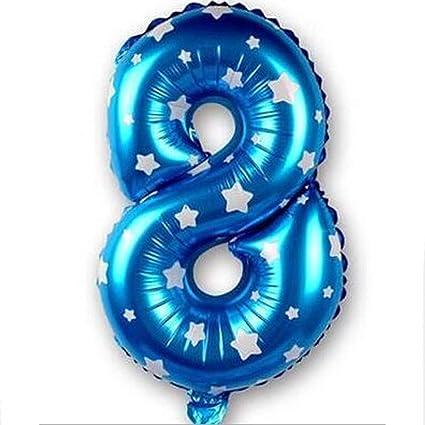 Globos de lámina de Mylar con números para decoración de ...
