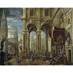 High Quality Polyster Canvas ,the Vivid Art Decorative Prints On Canvas Of Oil Painting 'Gutierrez Francisco El Juicio De Salomon 1660 70 ', 10 X 13 Inch / 25 X 32 Cm Is Best For Home Office Artwork And Home Decoration And Gifts