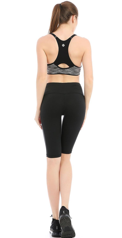ABUSA Womens Cotton Activewear Workout Bike Yoga Shorts