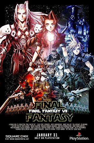 CGC Huge Poster - Final Fantasy VII Original Playstation PS1 Remake PS4 Vita - EXT626 (24