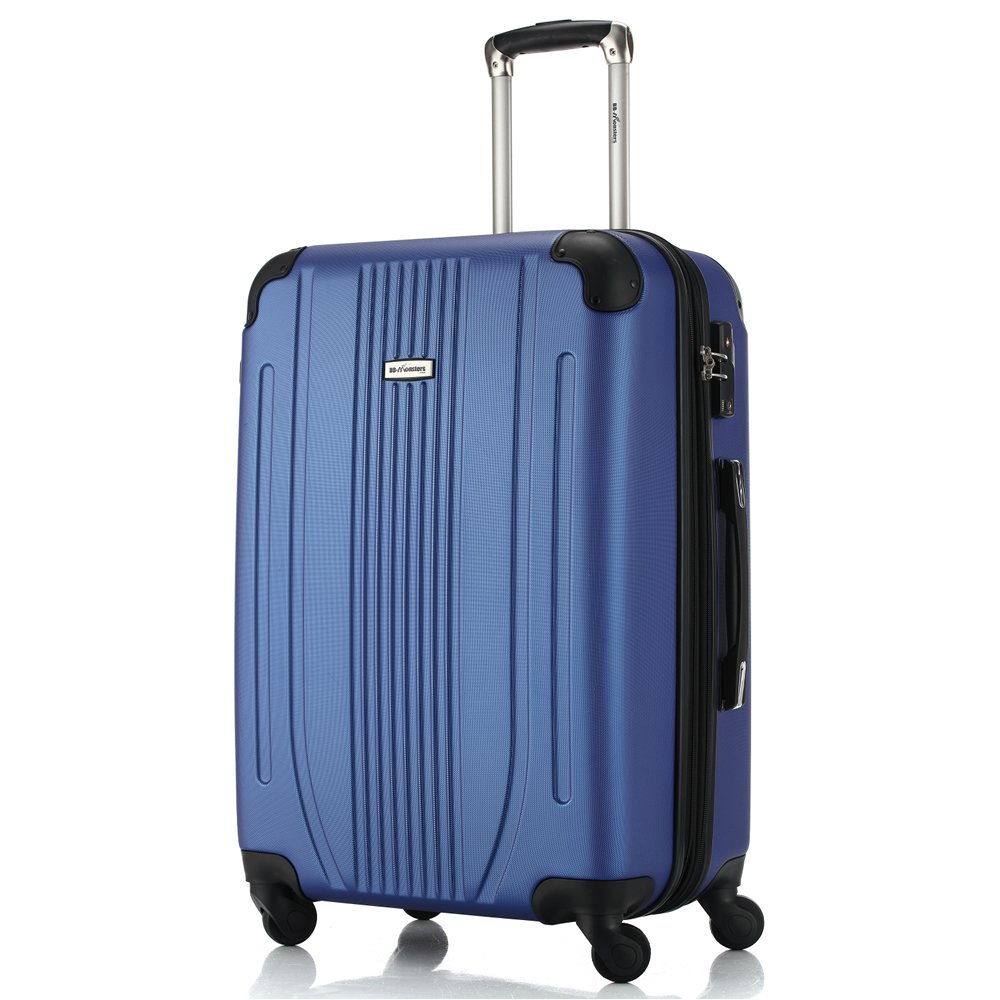 スーツケース 軽量 ファスナー TSAロック搭載 大型 中型 小型 機内持込み flower fairy B073W9L6YH 大型、L|ブルー ブルー 大型、L