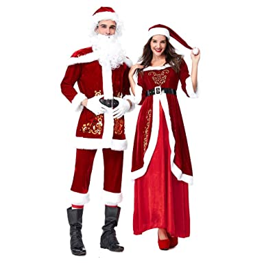 Bokeley Men Christmas Costumes Women's Mrs. Claus Long Dress Cosplay Outfits  Christmas Costume Adult ( - Amazon.com: Bokeley Men Christmas Costumes Women's Mrs. Claus Long