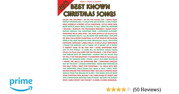120 Best Known Christmas Songs Pianovocalguitar Alfred Music