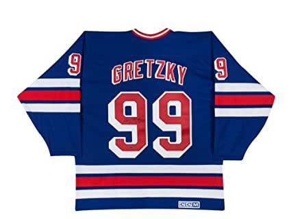 size 40 0d690 e4894 Wayne Gretzky Signed Home New York Rangers Jersey by UDA at ...