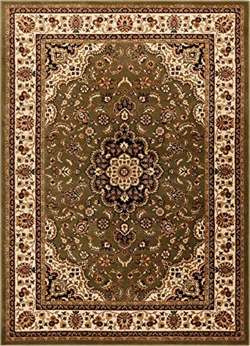 Well Woven Barclay Medallion Kashan Green Traditional Area Rug 5'3