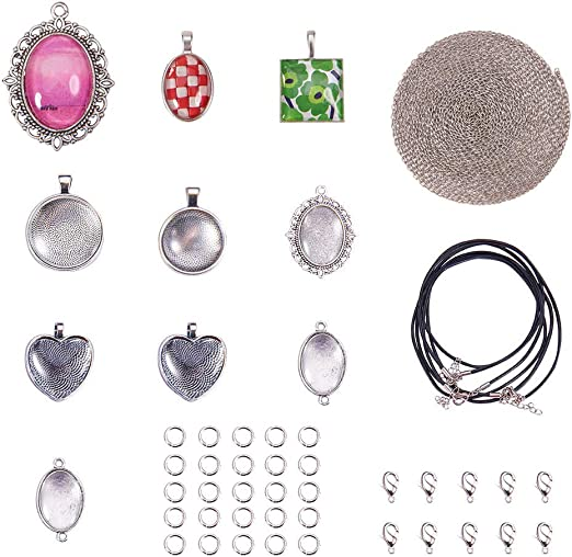 3Pcs Antique Silver Hollow Heart Hole Edge Charms Pendants For Necklace Making