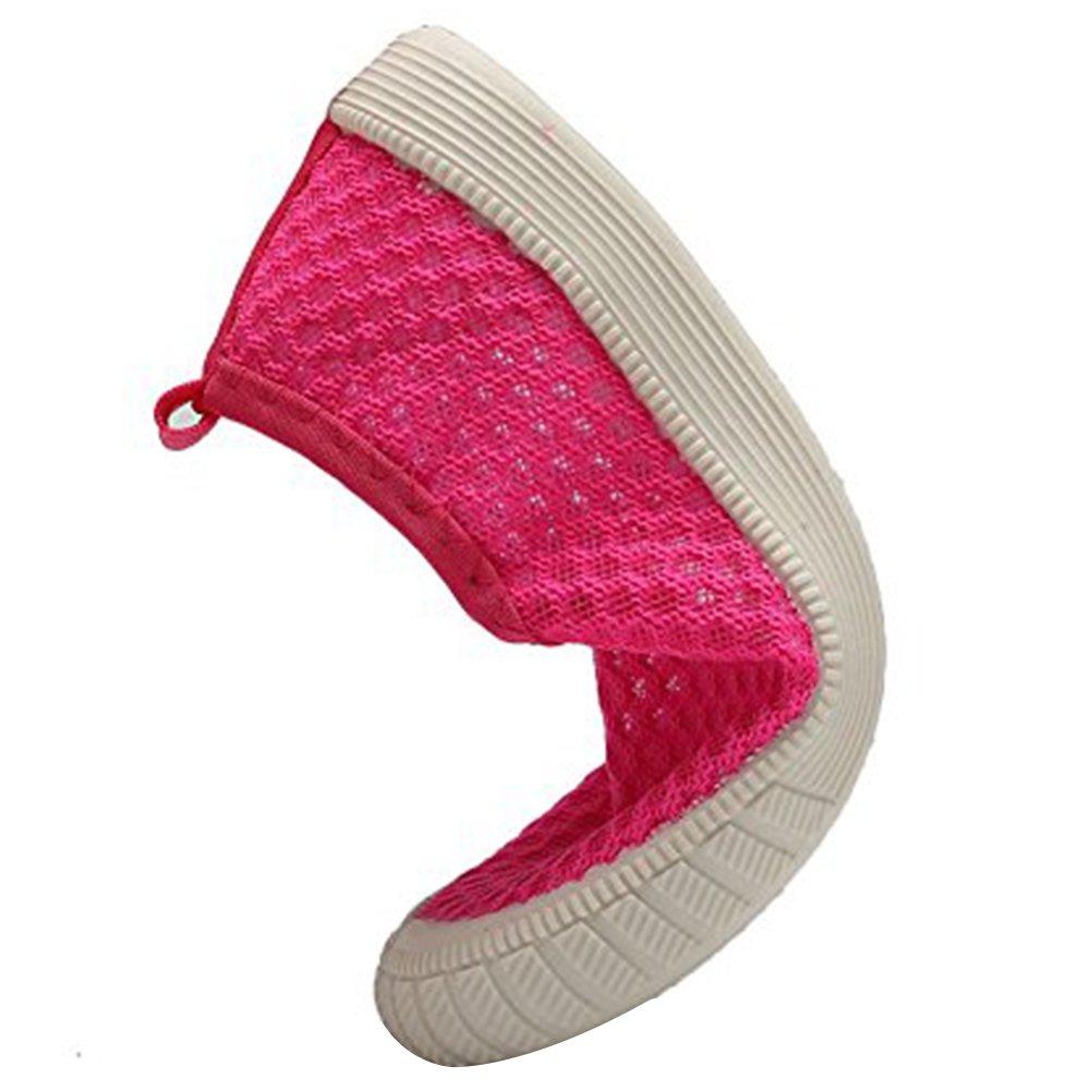 CIOR Kids Slip-on Breathable Sneakers for Running Beach Toddler/Little Kid,SK808,Pink,26