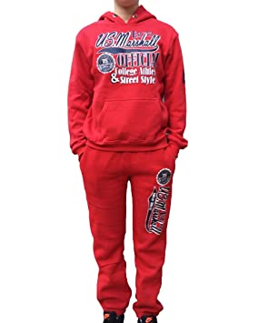 bdb1ffb53a2b9 US Marshall Jogging Rouge Enfant Mixte  Amazon.fr  Vêtements et ...