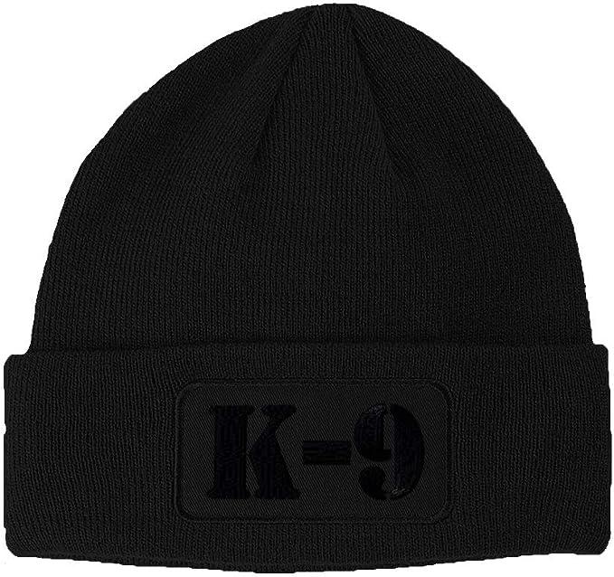 Black /& Silver Sheriff Embroidered Police Beanie Skull Winter Knit Ski Cap Hat