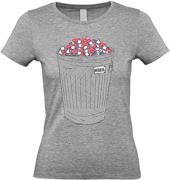 BADSIDE - Camiseta Antisocial de GANA Mezcla de Grises Small: Amazon.es: Ropa y accesorios