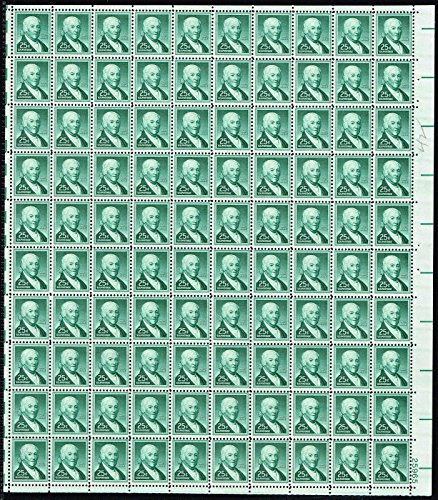 1958-paul-revere-complete-sheet-of-100-25-cent-stamps-scott-1048