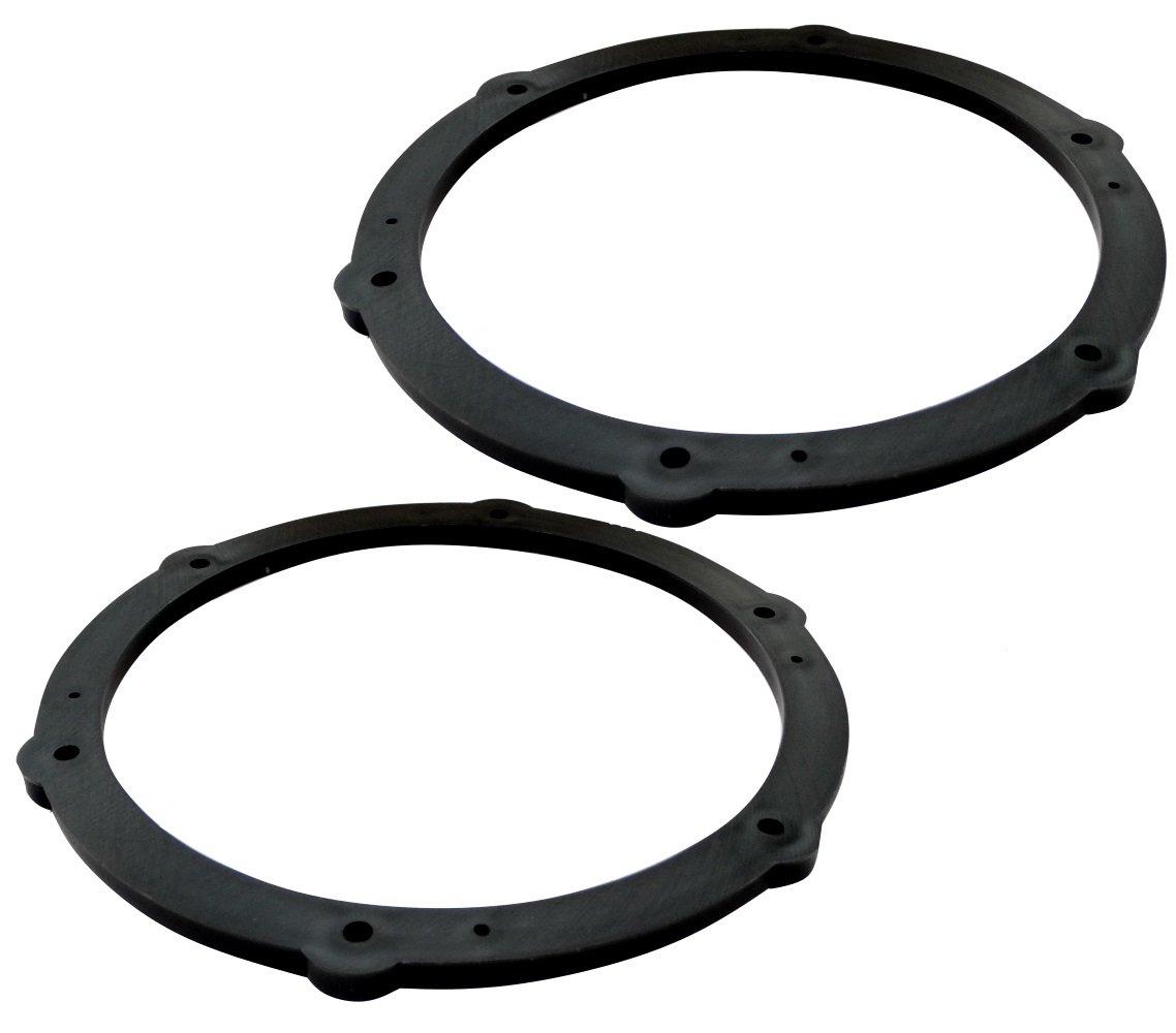 Aerzetix: 2 adaptateurs supports de haut-parleurs enceintes 165mm portes pour auto voiture C16610