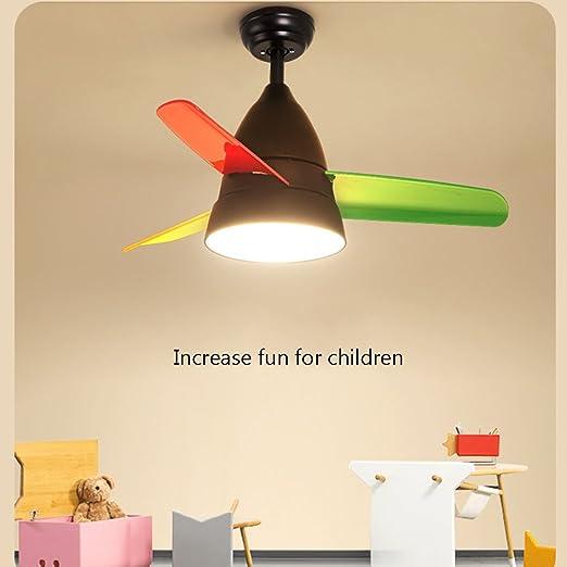Modern dibujos animados creativos endes Estimulante Fan Forma araña Fácil - Lámpara de techo plafón Baby lámpara Ventilador de techo Silent Light para ...