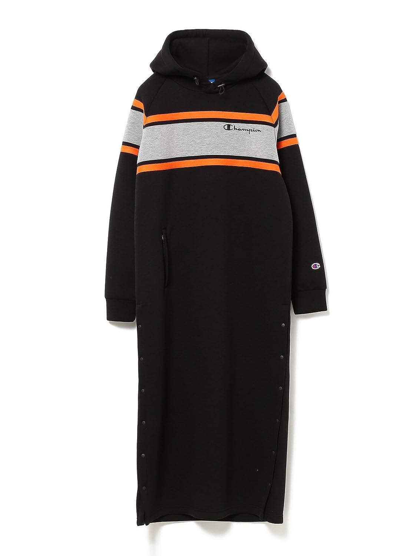 (レイビームス) Ray BEAMS × Champion(チャンピオン) / ワンピース 別注 フード ドレス レディス B07FW8GQDJ One Size|ブラック ブラック One Size