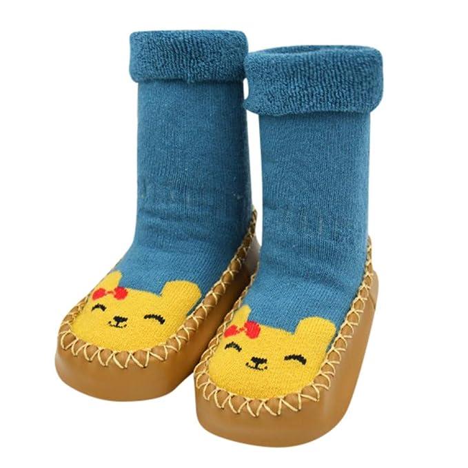 Sunenjoy Vêtements Pantoufles Chaussettes Anti-dérapantes Chaussons Premier  Pas Bébé Unisex Confortable Bébés Fille Garçon 6c1053273512