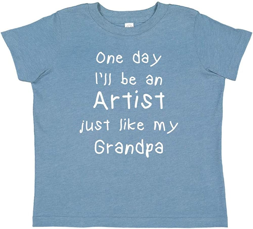 Toddler//Kids Short Sleeve T-Shirt One Day Ill Be an Artist Just Like My Grandpa