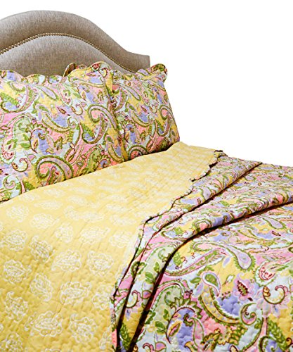 Pegasus Home Fashions Vintage Collection Kiera Quilt/Sham Set, Full/Queen