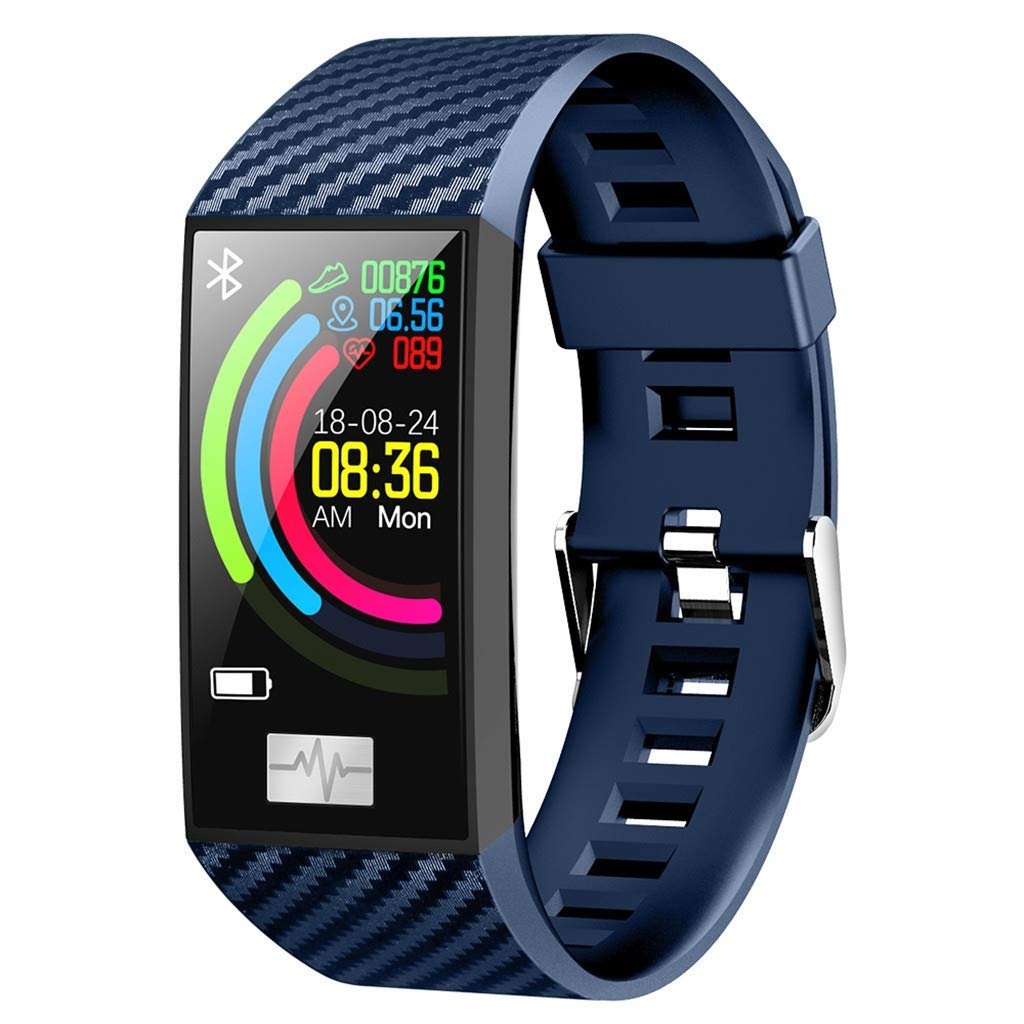 Smart Watch for Android/iOS,Jchen IP68 Waterproof Bluetooth Smart Watch Bracelet Heart Rate Monitor Blood Pressure Fitness Sport Smart Watch Best Gift for Father's/Mother's Day (Blue)