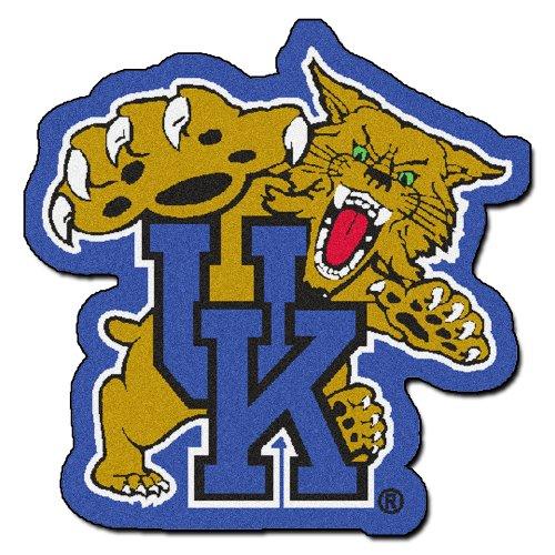 FANMATS NCAA University of Kentucky Wildcats Nylon Face Mascot Rug