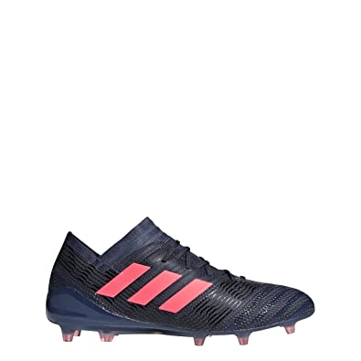 36cd08587d1 Image Unavailable. Image not available for. Color  adidas Womens Nemeziz  17.1 Firm Ground Cleats - (Trace Blue RED Zest Black
