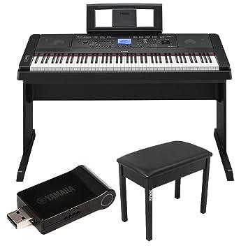 yamaha 88 key digital piano. yamaha dgx-660 88 key digital piano bundle with udwl01 wifi adapter and knox