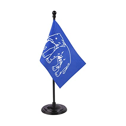 Bahujan Samaj Party (BSP) Miniature Table Flag With A Round