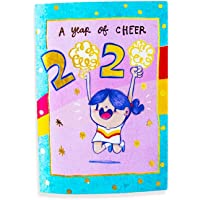 Alicia Souza - 2020 Year of Cheer Pocket Planner Diary | Monthly Grid View | Gold Foil Cover | Cute Illustrations | Size - Height - 10cm; Width - 15cm