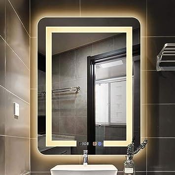 Badezimmerspiegel Wandhalterung Gefuhrter Badezimmerspiegel