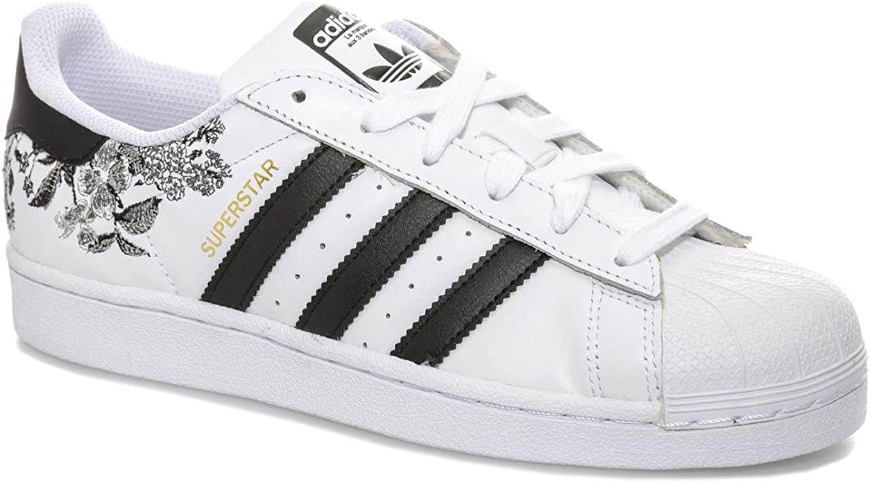 Adidas Originals Baskets Superstar Blanc Noir Femme 37 1 3 Eu Adidas Originals Amazon Fr Chaussures Et Sacs