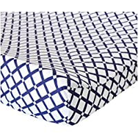 Oliver B Checks Changing Pad Cover - Navy