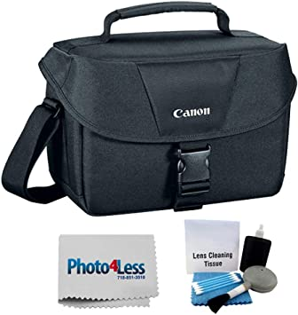 Photo4less Cleaning Cloth and Camera /& Lens 5 Piece Cleaning Kit Canon Genuine Padded Starter Digital SLR Camera Lens Case Gadget EOS Shoulder Bag For T3 T3i T4i T5 T5i SL1 70D 60D 50D 7D 6D