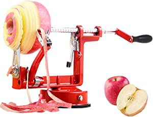 WONCHIEF Apple/Potato Peeler Corer Slicer with Suction Base, Stainless Steel Blade Durable Die Cast Magnesium Alloy Peelers