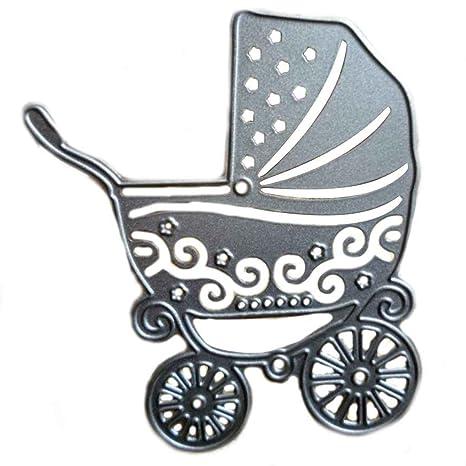 Laileya DIY Carro de bebé del patrón Troqueles de Corte de la Plantilla para la Compra